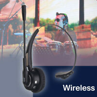 Wireless bluetooth Headset With Mic Noise-Canceling USB Stereo Headphone   )%#