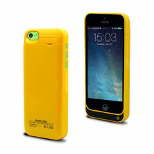 Yellow Backup Charger Battery Case for iPhone 5 5s 5c 1 Year Warranty Thin Light