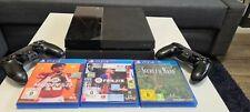 Sony PlayStation 4 500GB mit 2 Controllern und 3 Spielen