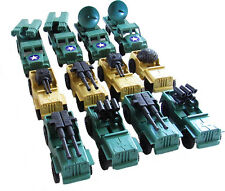 12 piece Toy Army Trucks and Jeeps with Weapons