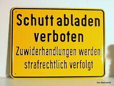 Schutt ĄDescarguen prohibido, aluminio, marcado, 33,5 x 25 CM, escudo, nota escudo,