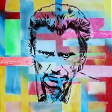 johnny hallyday TABLEAU pop street art graffiti PyB painting canvas french sign