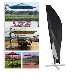S Heavy Duty Parasol Banana Umbrella Cover Cantilever Outdoor Patio Shield