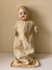 "Early Circa 1800's Papier Mache Doll 19"" High"