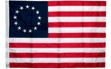 3x5 Embroidered Betsy Ross USA 200D Sewn Nylon Flag 5x3 Flag Banner (B4L)