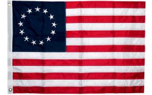 3x5 Embroidered Betsy Ross USA 200D Sewn Nylon Flag 5x3 Flag Banner (B4L)