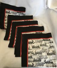 Antique Trains Thomas Roger George Griggs Locomotive on Dinner Napkins Set of 5