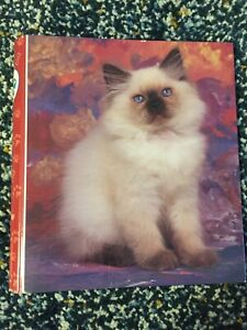 Vintage Mead Portfolio Siamese Cat Kitten Binder Purrs & Grrrs
