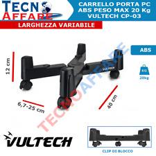 Carrello Porta PC con 5 Ruote ABS per Case Vultech CP-03