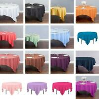 LinenTablecloth 85 in. Square Polyester Tablecloth - 33 Colors Banquet Wedding
