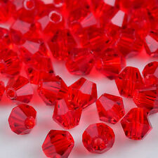 100pcs red 4MM 5301#glitter Crystals luster delicateness Bicone Loose Beads*