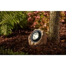Integrated LED Natural Rock Spot Light Solar Outdoor Warm White Automatic Lamp