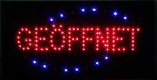 Geöffnet LED Schild Leuchtschild Leuchtreklame Reklame Stopper Werbung Sign