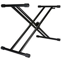 Talent QRKS Quick-Draw Double-X Keyboard Stand with One Hand