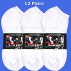 12 pairs Men Women Sport Anklet Low Cut SOCKS White ATHLETIC Cotton 9-11 / 10-13