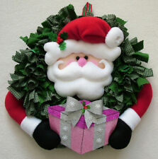 PATCHWORK / QUILTING CHRISTMAS SANTA WREATH SEWING PATTERN by Gail Penberthy