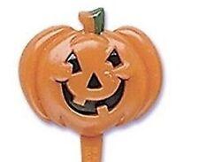 12 Pumpkin Cupcake Pick Halloween  Jack o Lantern Orange Seeds