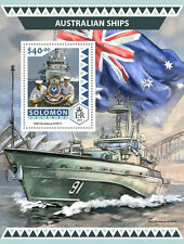Solomon Islands 2016 MNH Australian Ships HMAS Bundaberg 1v S/S Boats Stamps