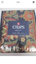 CHAPS Brompton Hall VALANCE Floral NAVY RED GOLD Cotton RETIRED NWT 2pc
