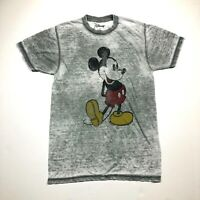 Disney's Women's Mickey Mouse Gray Burnout Fabric T-shirt TEE Size Small EUC