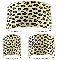 NEW Lampshade Handmade with Retro Leopard Print Wallpaper FREE P&P