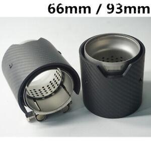 "100% Carbon Fiber Race Car Exhaust Muffler Tip 2.5"" Matte Black For BMW M 2Pcs"
