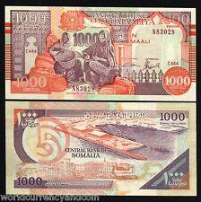 PUNTLAND SOMALIA 1000 SHILLINGS P R10 1990 SHIP UNC AFRICA MONEY BILL BANK NOTE