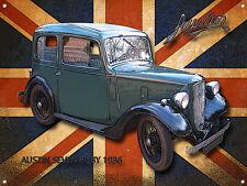 CLASSIC BRITISH AUSTIN RUBY SEVEN METAL SIGN
