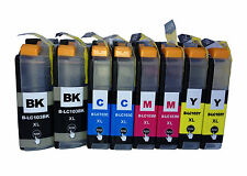 8x LC103  LC103XL High Yield Ink For Brother MFC-J4610DW MFC-J4410DW MFC-J875DW