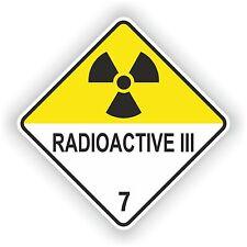 Adesivo radioattivi III # 03 logo segno Laptop PORTA CAMION AUTO MOTO CASCO