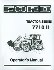 FORD TRACTOR OWNER'S MANUAL- SERIES 7710 II