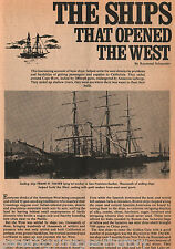 Ships That Opened The West - A History Indexed Below