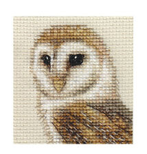 Barn Owl Bird Complete Counted Cross Stitch Kit