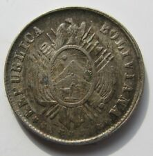 BOLIVIA. 5 CENTAVOS DE 1881 . PLATA