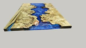 Epoxy table, dining, sofa, center table top Live Edge Wood table ,Custom Order