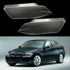 1 Pair Headlight Clear Lens Lampshade Plastic Shell For BMW E90 E91  04 05 06 07