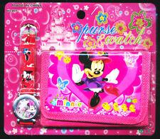 Minnie Children's Watch Wallet Set Boys Girls Christmas Gift