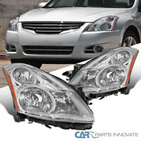 For 10-12 Nissan Altima 4Dr Replacement Clear Head Lamps Headlights Left+Right