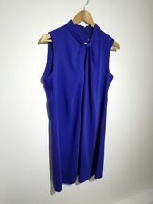 Phase Eight UK 16 Cobalt Blue Sleeveless A-line Dress Keyhole Neckline