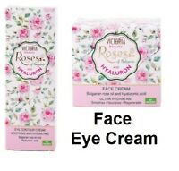 Victoria Beauty Face Cream Eye Contour Rose Oil & Hyaluronic Hydrates Acid