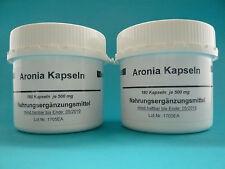 Aronia 2 x180 vegi  Kapseln 2 Dosen Apfelbeere (19,88 € /100 g) Aroniakapseln