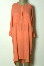 H&M Kleid Gr. 42 orange knielang 3/4-Arm Blusen Kleid/Tunika Kleid