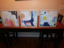 "Set Of 3 12""X12"" Framed Canvas Brand New"