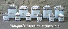 B20151674 - 11 pots de cuisine en porcelaine - Tchécoslovaquie - Très bon état