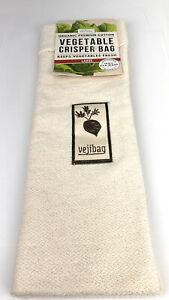 New ListingLarge Vejibag Organic Cotton Reusable Vegetable Crisper Bag 11�x 17�
