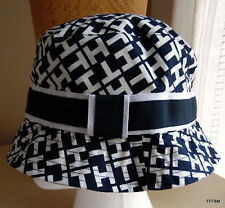 Tommy Hilfiger Women's Bucket Hat TH Navy White Size Small