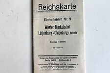 23571 Landkarte Reichskarte Einheitsblatt 9 Wester Markelsdorf Lütjenburg 1925