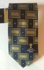 B&M LEISURE RUGBY WORLD CUP 2011 PURE SILK HANDMADE TIE