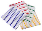 10 Large Dishcloths cloths red yellow green blue colour coded hygiene striped
