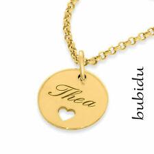 Kette Anhänger Gravur vergoldet mit Namen 925 Silber  Damenschmuck Kindername